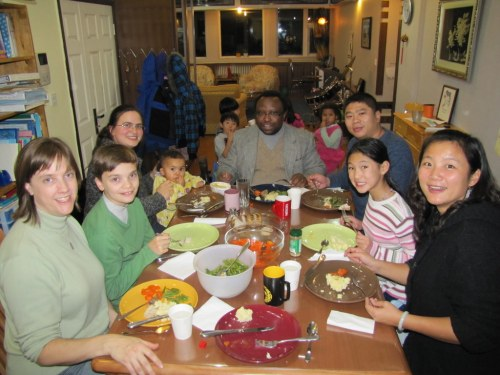 "Wonderful ""after Thanksgiving"" dinner with precious friends"